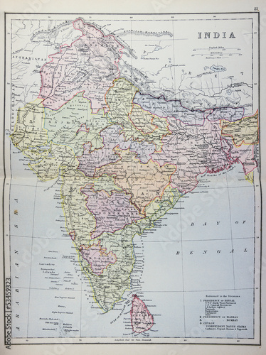 Historical map of India