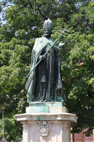 Statue of Pope Innocent XI in Budapest, Hungary