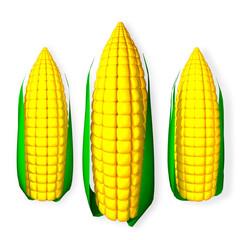 3d rendered Corns
