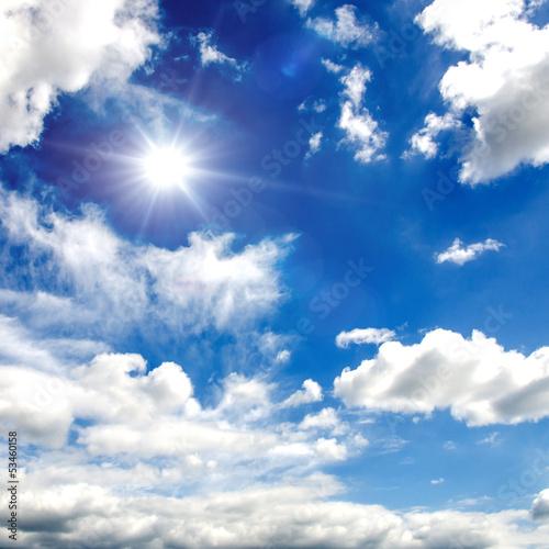 Himmel Wolken Sonne Wallpaper Wall Mural Sommerlicher Himmel