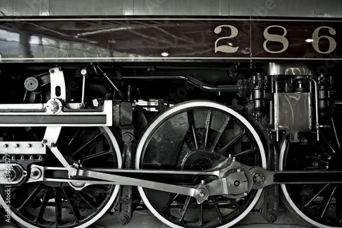 Steam Locomotive Closeup