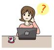 パソコン操作 女性 悩む