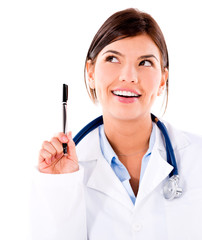 Doctor having an idea