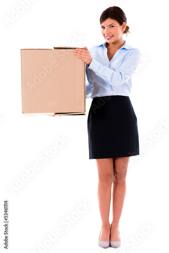 Business woman moving