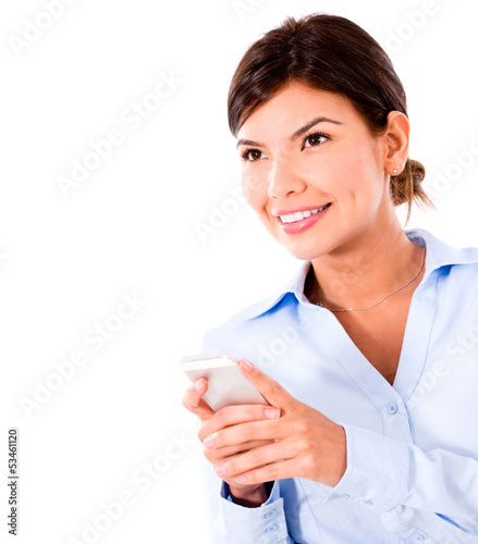 Business woman using smart phone
