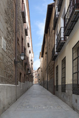 Narrow street of madrid, Spain