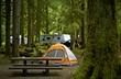 Leinwanddruck Bild - The Campground