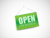 open for business sign illustration