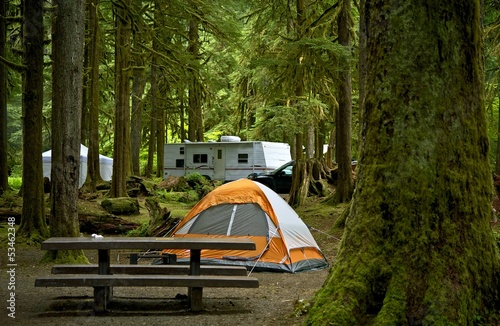 Tuinposter Kamperen The Campground