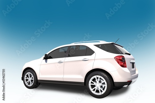 SUV Car 3D Illustration