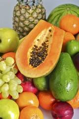 Fresh Papaya and Fruits