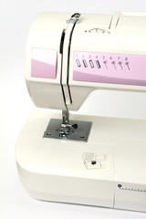 Sewing Machine on White