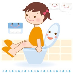 トイレ 表示 トレーニング 子ども イラスト 女の子