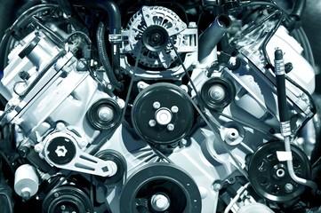 Powerful Engine Closeup
