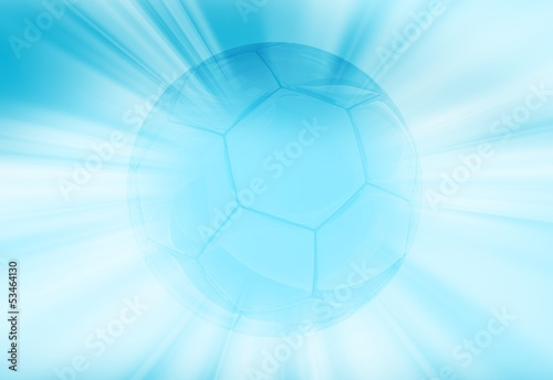 Shiny Blue Soccer Ball
