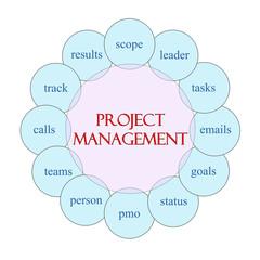 Project Managment Circular Word Concept