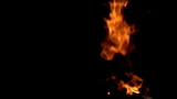Burning Gas. Slow Motion at a rate of 480 fps