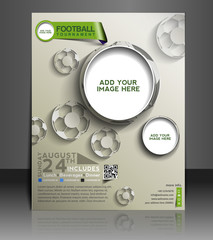 vector football player flyer, design