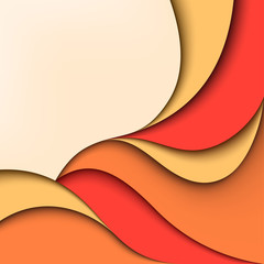 Abstract color background. Wavy design