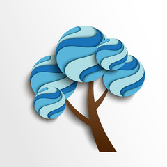 Stylized winter tree