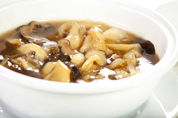 Fish maw soup, Chinese style fish maw soup with mushroom