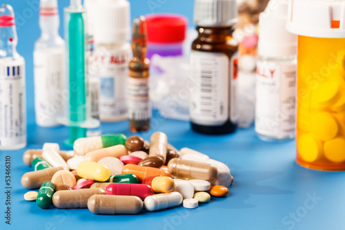 medicines  capsules tablets and  vials