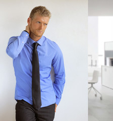 Sexy young businessman