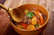 Irish stew farm-style  with tender lamb meat, potatoes and veget