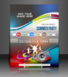 music party flyer, vector