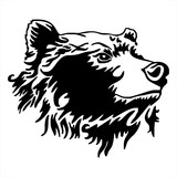 Bear head tattoo vector
