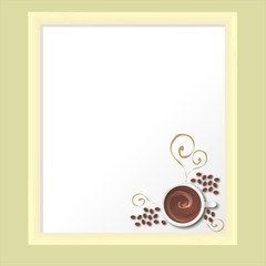 coffee bean on white Board vector