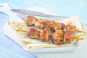 kebab on lavash
