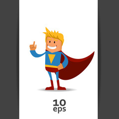 Happy Super man. Vector illustration