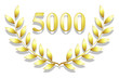 Lauriers 5000 en or