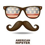 American Hipster. Vector illustration