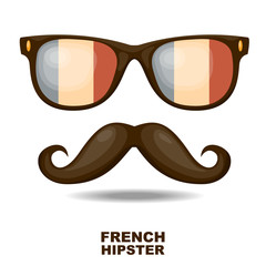 French Hipster. Vector illustration