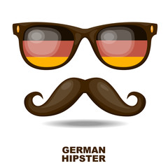 German Hipster. Vector illustration