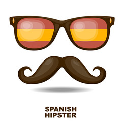Spanish Hipster. Vector illustration