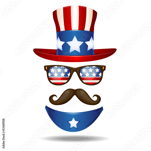 American cowboy. Vector illustration