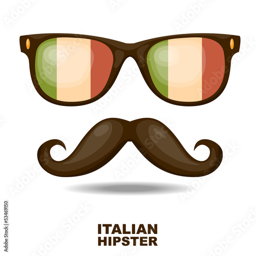 Italian Hipster. Vector illustration