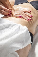 Spa treatment, beauty and anti cellulite massage