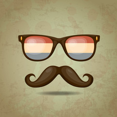 Netherlands Hipster. Vector illustration