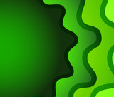 Green roundish wave abstract background