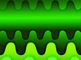 Green horizontal wave abstract background