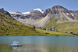 Lake of Tignes in France