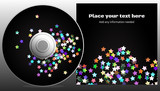 CD design in disco stars style