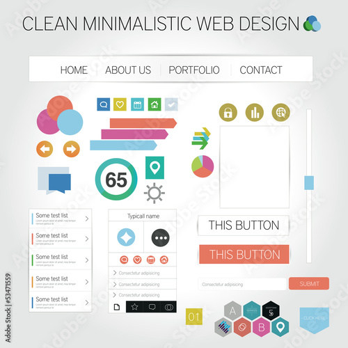Clean minimalistic web graphics  - Designers toolkit