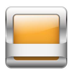 Orange Web Button (sign badge icon symbol blank template square)