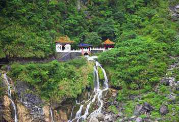 Changchun temple. Taroko National Park. Taiwan