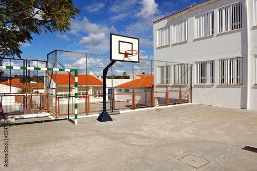Foto op Canvas Stadion Cancha de basket en la escuela